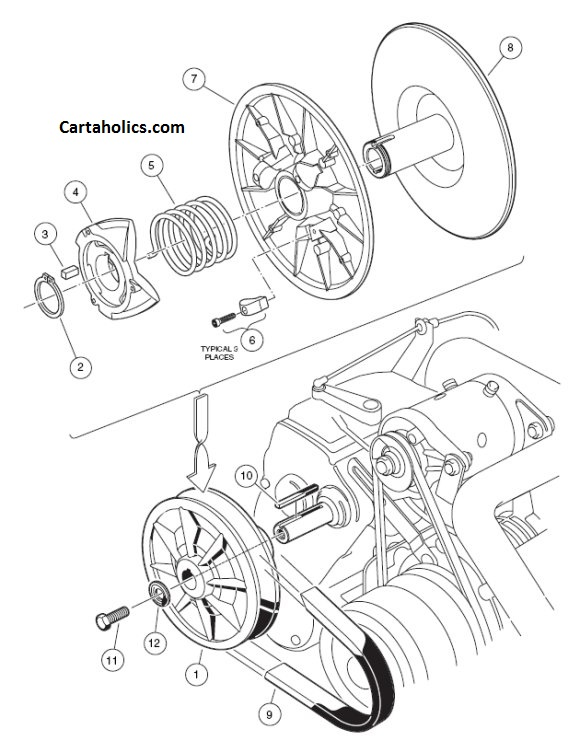 ezgo golf cart clutch diagram  ezgo  free engine image for