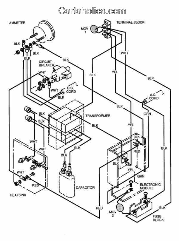 Cart Wiring Diagram Further Yamaha Electric Golf Cart Wiring Diagram