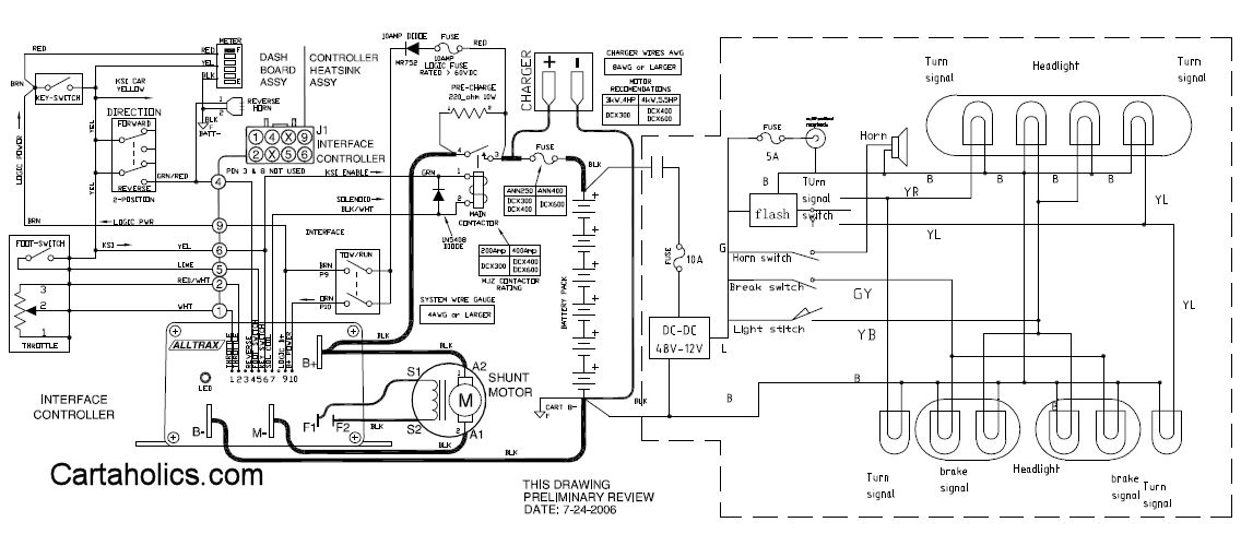 Golf Cart Turn Signal Switch Wiring Diagram from www.cartaholics.com