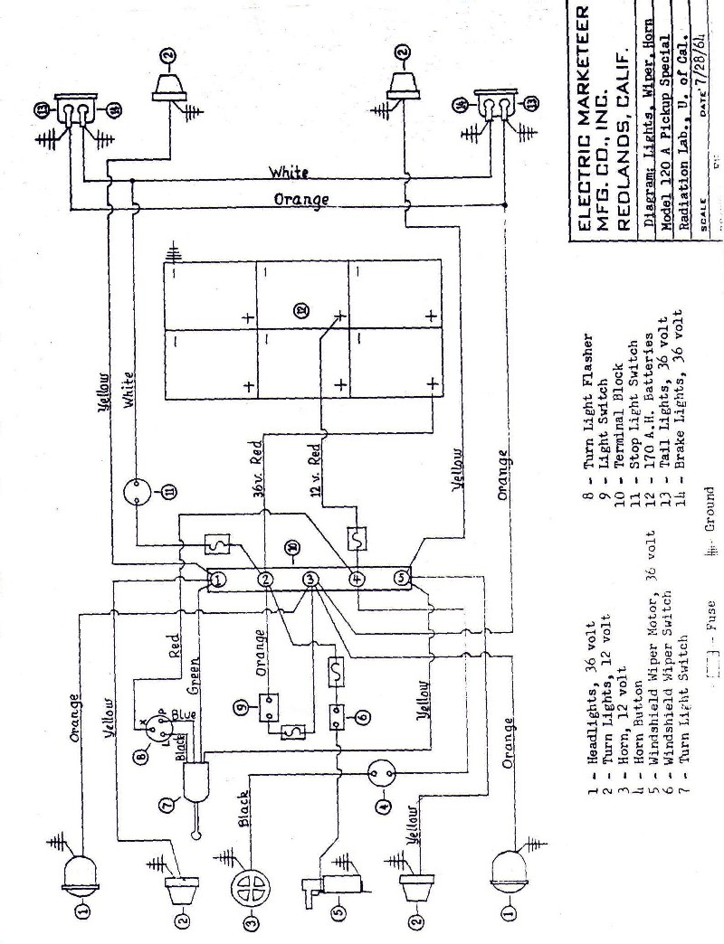 MELEX 512E Cable Diagram | Cartaholics Golf Cart Forum