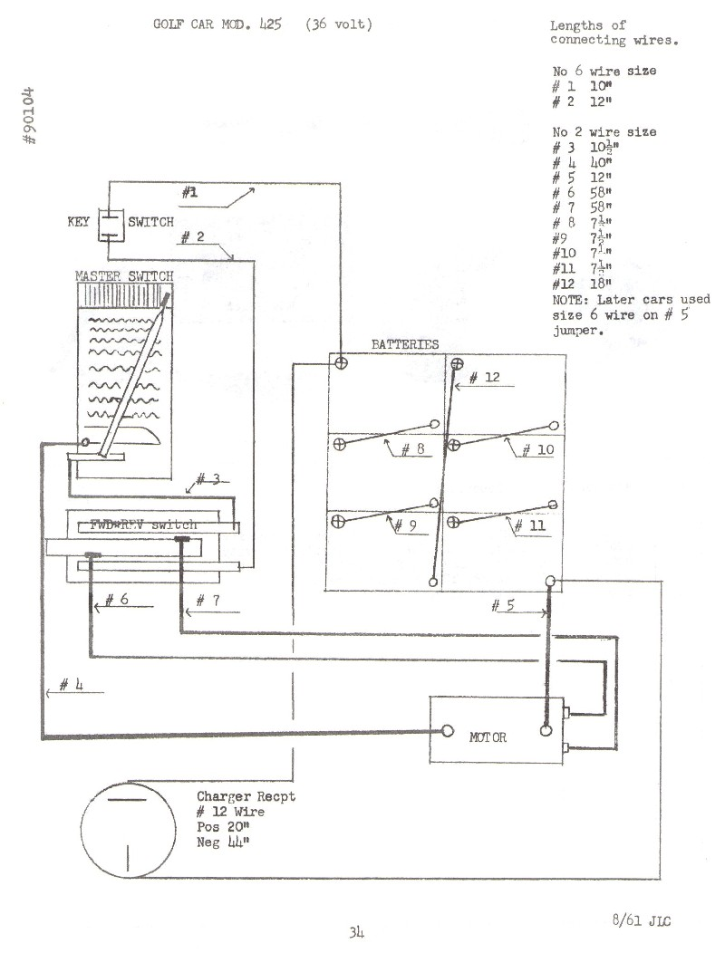36 Volt Battery Wiring Diagram Charger 1988 Diagrams Lester Ii Ezgo Get Free Image 48