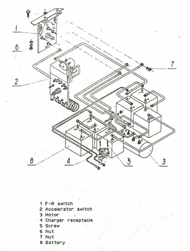 MELEX Golf Cart Wiring Diagram - Resistor - Models 112