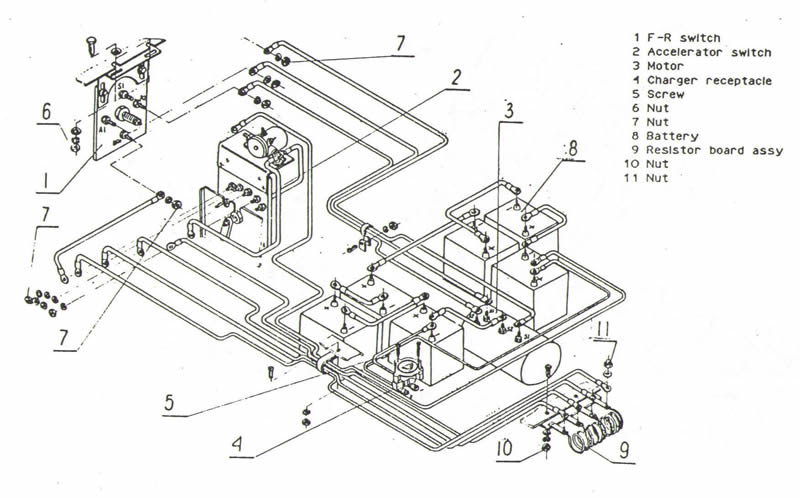 melex golf cart wiring diagram - resistor