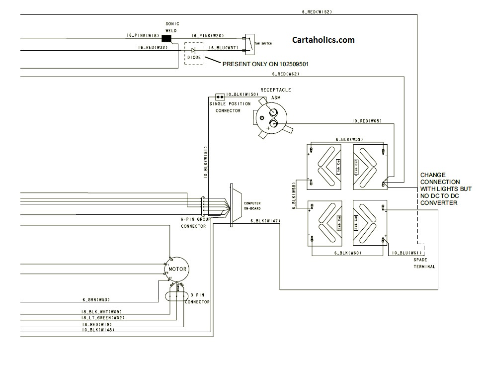 Club Car Precedent Wiring Diagram - Electric | Cartaholics Golf Cart